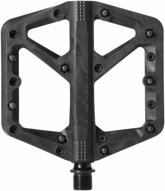 """Crank Brothers Stamp 1 Pedals - Platform, Composite, 9/16"""", Black, Large"""