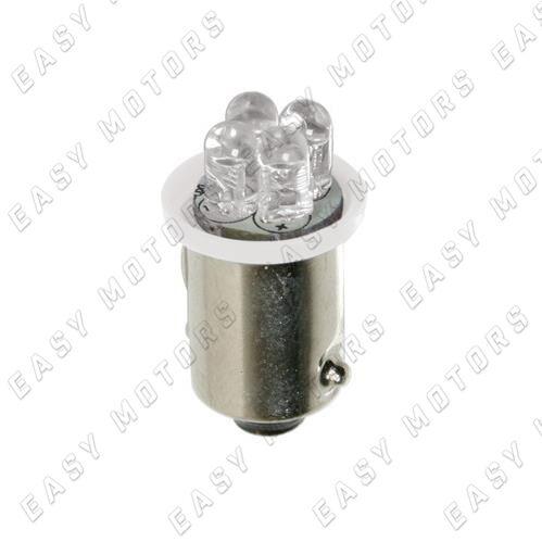 BA9s 2 pz D Blister Bianco 24V Micro lampada 4 Led T4W