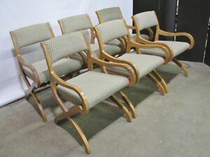 6 Modernist Casa Del Sol Dining Chairs By John Van Koert For