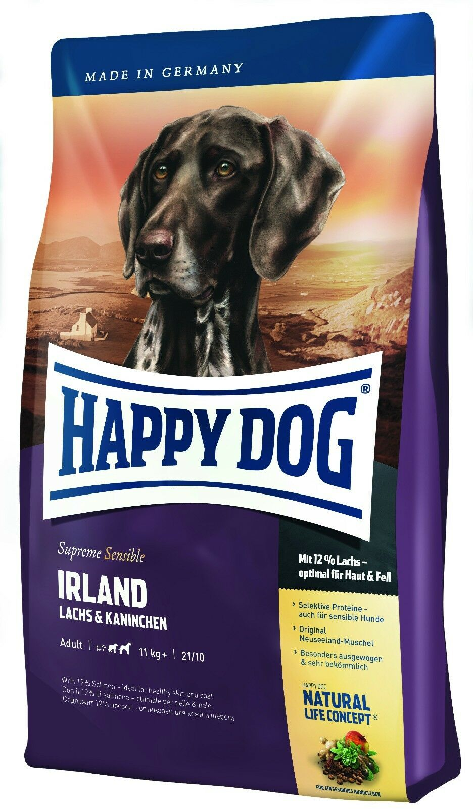 29 kg Happy Dog Supreme Irland 2 x 12,5 kg + 1x4kg Gratis WINTERAKTION
