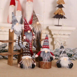 Christmas-Santa-Faceless-Gnome-Handmade-Xmas-Tree-Tomte-Doll-Hanging-Decor
