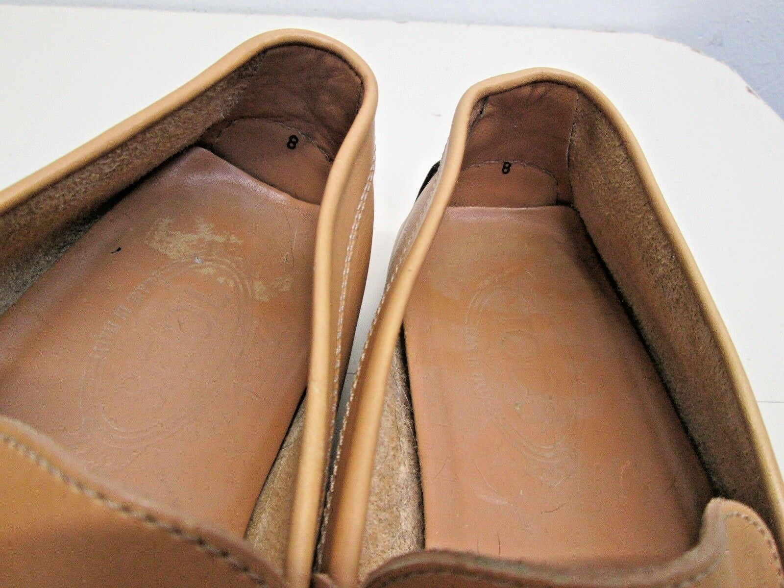 Tod's Driving moccasins penny loafers Leather Italy made sz sz sz 8 Gommini peach EUC! 058b56