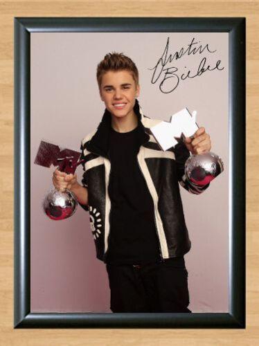 Justin Bieber Boyfriend Signed Autographed A4 Print Poster Photo Autograph CD