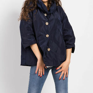 100% authentic 07ba8 16d12 Dettagli su Giacca donna giaccone estivo impermeabile piumino manica 3/4  trench slim 190771
