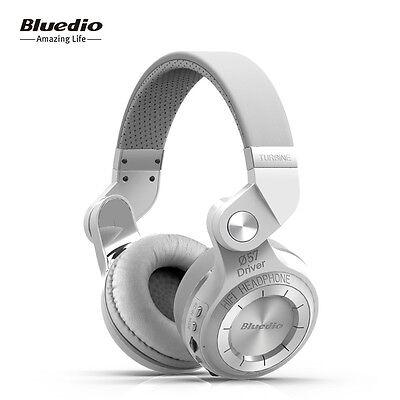 Neuf Bluedio T2+ Casque Bluetooth 4.1 Sans fil Stéréo Écouteur FM SD carte