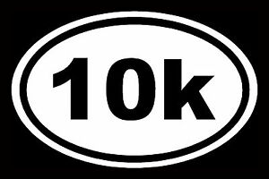 10K-Sticker-Marathon-White-Oval-Window-Decal-Vinyl-Car-Laptop-Run-13-1-Euro