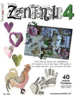 ZENTANGLE 4-Line Drawing Altered Art Paper Craft Idea Book-Tangles