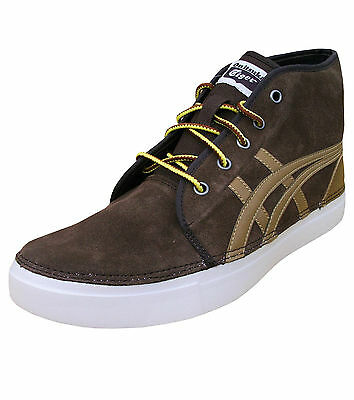 Asics Men's Onitsuka Tiger Claverton Mid Suede Retro Trainers Shoes brown