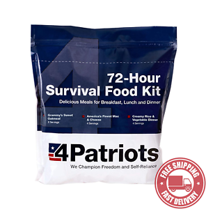 4Patriots Emergency Food Supply - 72 - Hour Survival Kit - 25 - Year S
