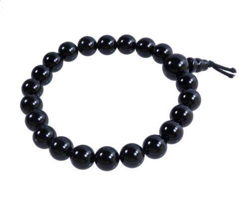 Onyx schwarz Powerarmband Kugel-Armband Edelstein Beads Perlen Buddah 8 mm