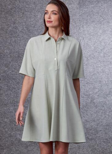 V1698 Vogue 1698 Sewing Pattern EASY Loose-Fitting Dress Sleeve Length Variation