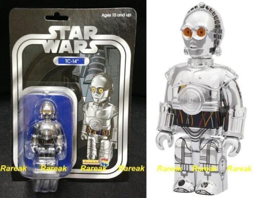 Medicom Kubrick 2011 Star Wars TC-14 Silver Chrome 100/% Wonder Festival Figure