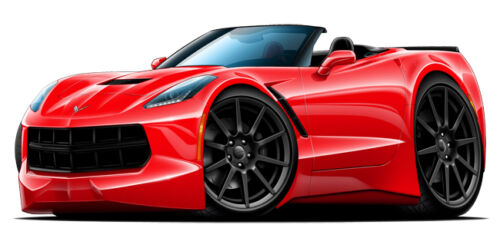"2015 Corvette Stingray Wall Decal Sticker Graphic 12/"" x 24/"" Size Free Shipping"