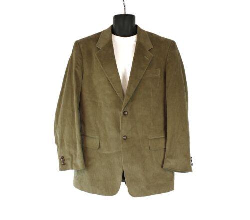 Corduroy Blazer 42R Dark Beige Mens Sports Coat Pr