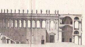 Gravure-XVIIIe-Theatre-Romain-Roman-theatre-Structure-Teatro-Romano-1780