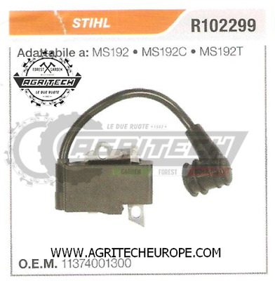 IGNITION COIL WITH WIRE For STIHL MS192T MS192TC MS 192T 192TC Chainsaw Parts