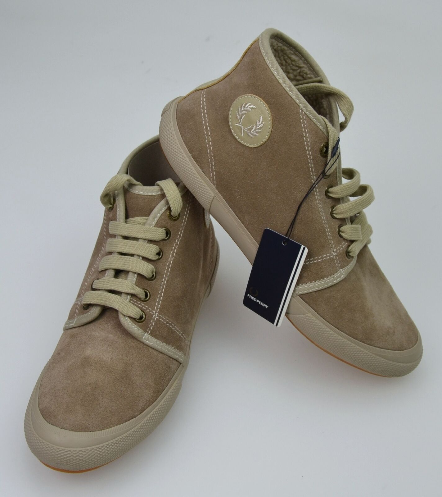 FRED PERRY MAN SNEAKER SHOES CASUAL FREE TIME SUEDE WOOL CODE B1051 DEFECT
