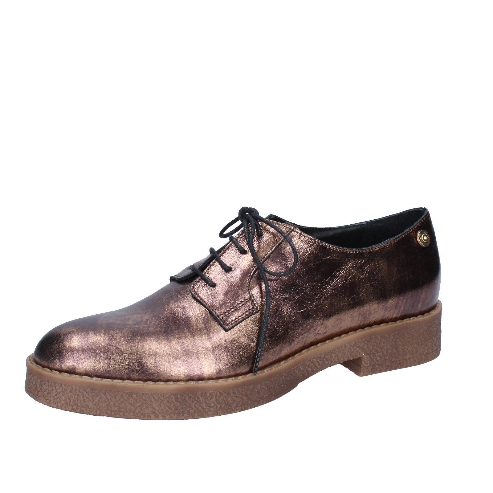 scarpe donna LIU JO 36 EU classiche bronzo pelle BY591-36