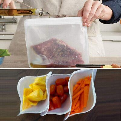 12Pcs Reusable Silicone Food Storage Bags Wrap Seal Bowl Vacuum