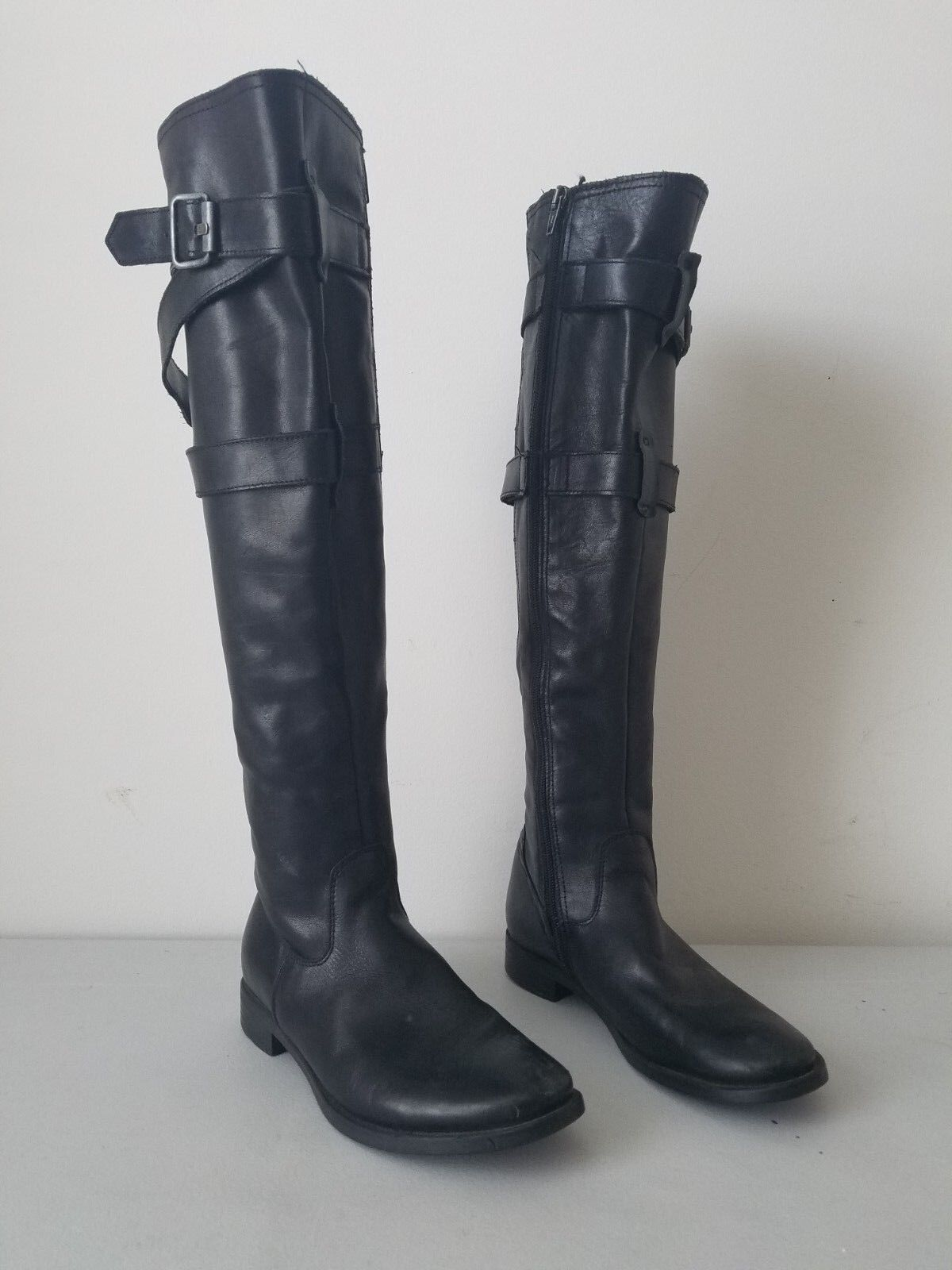 CIAK over the knee black leather boots