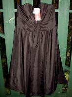 - Rrp $150 - Miss Anne (m) Bow Strapless Bubble Black Taffeta Dress Formal