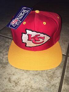 Kansas City Chiefs NFL Vintage 90s Snapback Hat New With Tags Free ... b90b70836