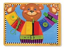 MELISSA & Doug competenze di base da tavolo e puzzle-in Legno Giocattolo Educativo