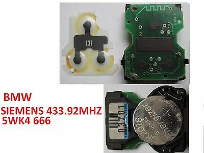 Bmw E36 E38 E39 E46 Z3 Siemens 5wk4 666 remoto clave Alarma Tablero Controlador