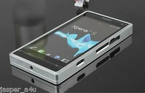 Silver-Color-Aluminum-Metal-Back-Bumper-Cleave-For-Sony-Ericsson-Xperia-S-LT26i
