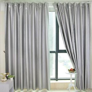 100 Blockout Curtain Block Light Black Out Curtain Cloth