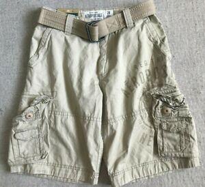 9743961381 NEW Aeropostale Men's Belted Longer Length Cargo Shorts, Medium ...