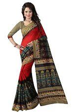 Ezone Esha Print Indian Bollywood Designer Bhagalpuri Silk printed Saree