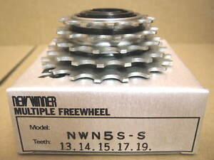 New-Old-Stock-Suntour-New-Winner-5-Speed-Freewheel-13x19-w-Silver-Finish