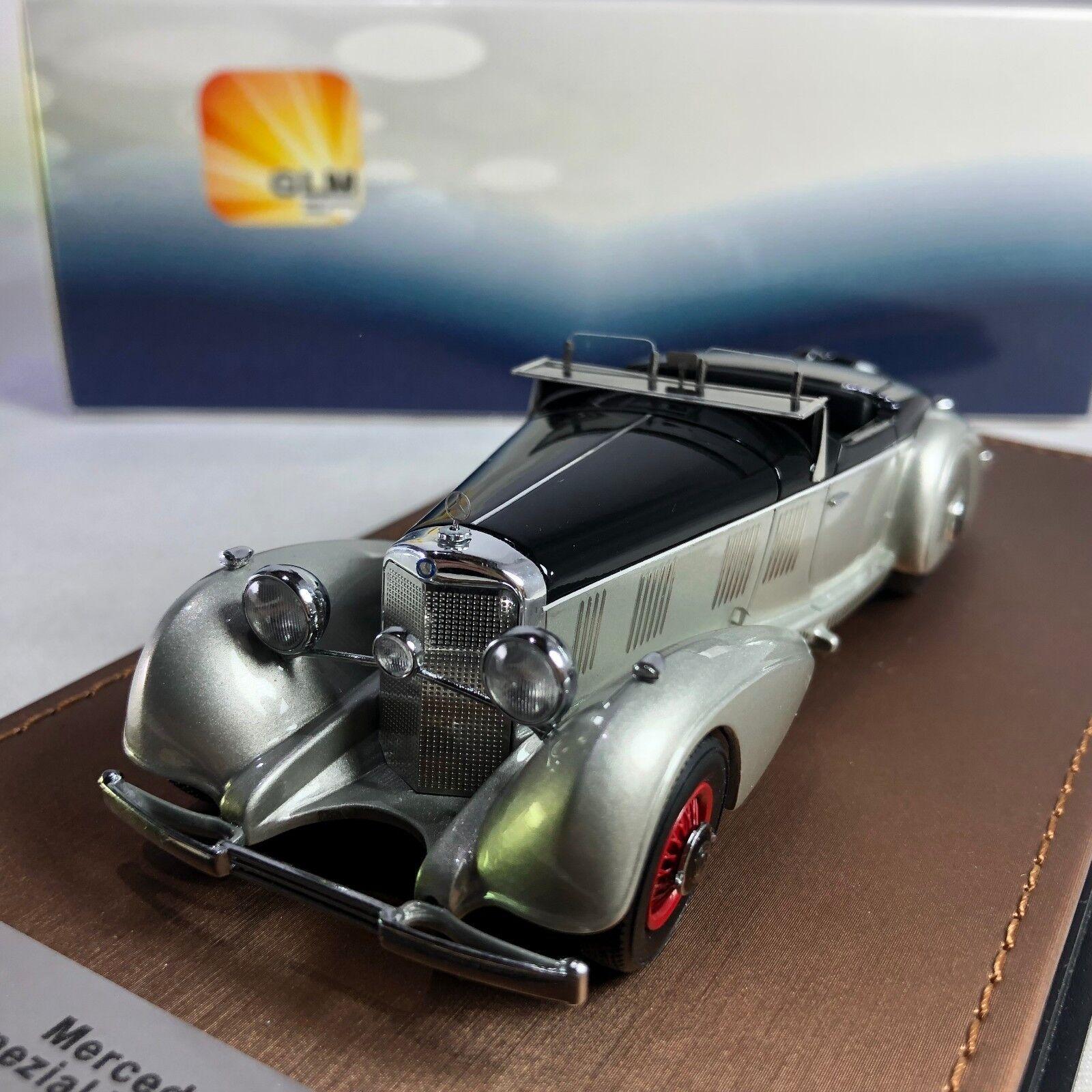 1 43  GLM Mercedes-Benz 540K Spezialroadster Mayfair 1937 Argent Noir 205702  le plus récent