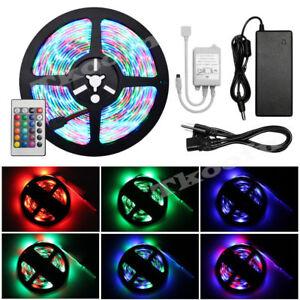 5M-3528-RGB-LED-SMD-Strip-Band-Leiste-Lichterkette-Licht-Streifen-Netzteil-Trafo