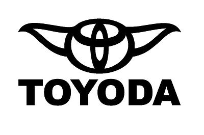 car truck suv sticker toyota starwars Toyoda vinyl decal