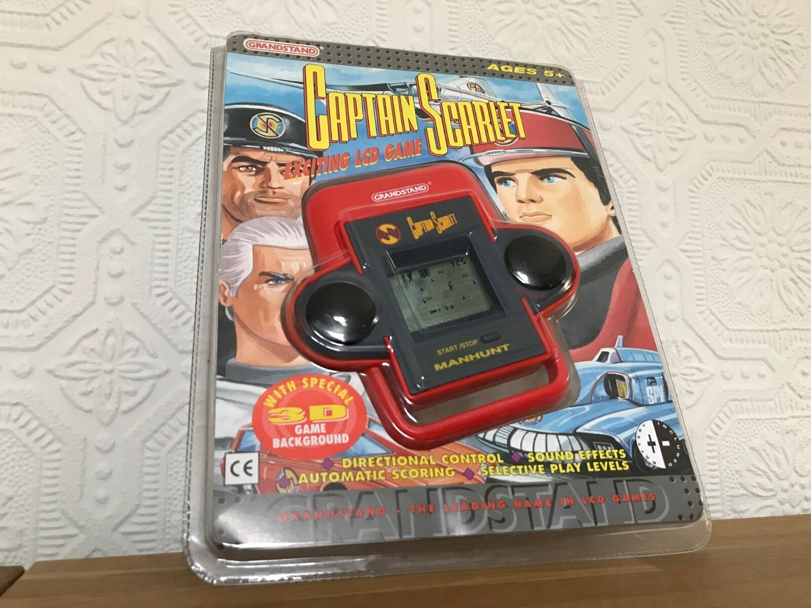 Grandstand Captain Scarlet Vintage 1990's LCD Handheld Electronic Game - Mint
