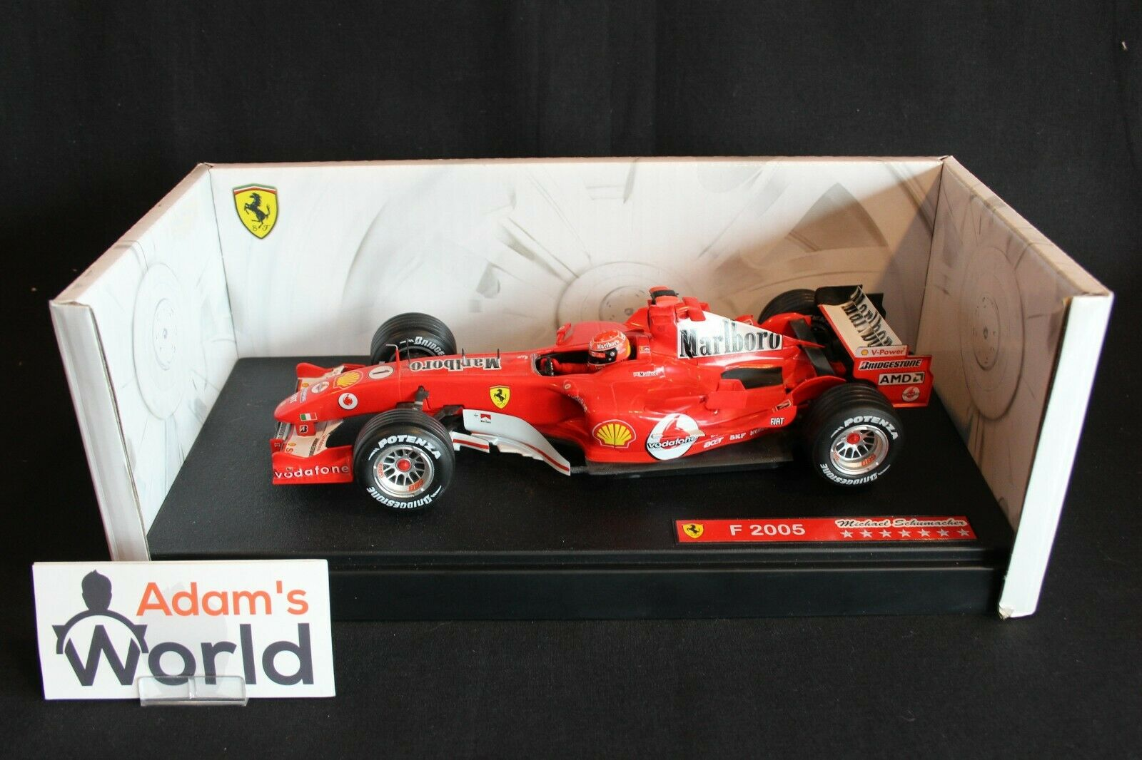 Hot Wheels Ferrari F2005 2005 1 18 Michael Schumacher  Marlbgold  (PJBB)