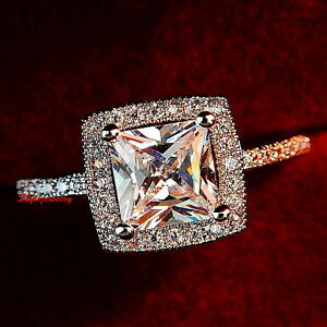 Rose-Gold-Plated-Women-Princess-Made-with-Swarovski-Crystal-Engagement-Ring-R79
