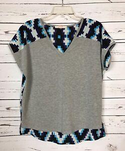 Pomelo-Stitch-Fix-Women-039-s-XS-Extra-Small-Gray-Blue-Short-Sleeve-Top-Shirt-Tee