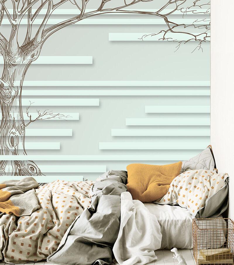 3D Baum Muster Textur 9873 Tapete Wandgemälde Tapeten Bild Familie DE Jenny