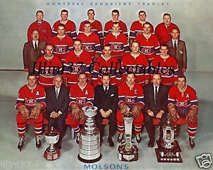 1952-53 MONTREAL CANADIENS STANLEY CUP CHAMPIONS 8X10 TEAM PHOTO PLANTE #2