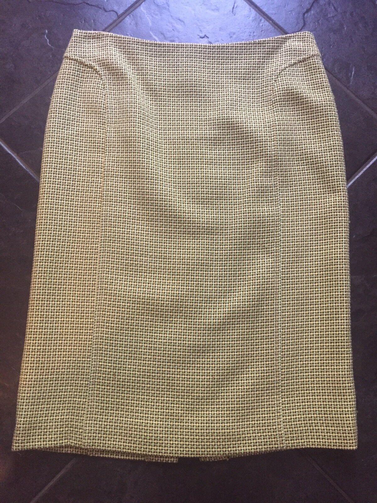 Mr & Mrs MacLeod Woven Cotton Pencil Skirt NWOT