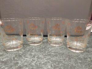 RARE Vintage Faygo Pop 50th Anniversary Glass Set of Four (4) 1958