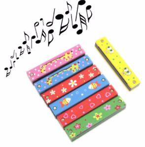 16 Trous Enfants Garçons Filles Harmonica Instrument Musique Pour Jeunes Enfants-afficher Le Titre D'origine Construction Robuste