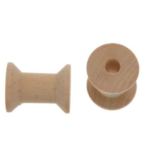 10 Naturell Spulen Garnspule Holzspule Dekospule Nähmaschinenspulen