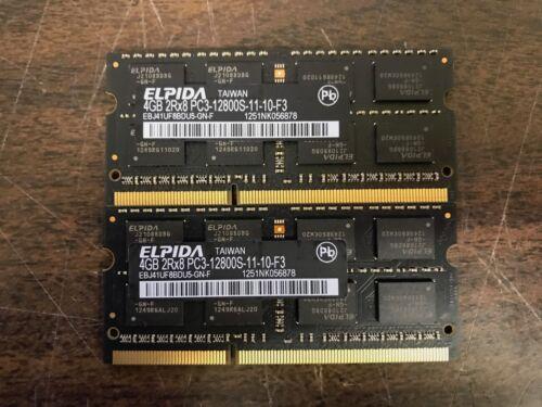 2x4GB 2RX8 PC3-12800 SODIMM RAM Memory iMac MacBook Pro APPLE Elpida 8GB Kit