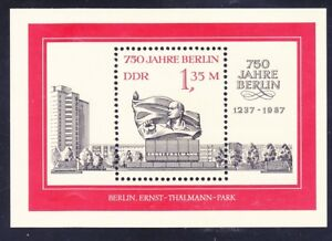 Germany-DDR-2637-MNH-1987-Thalmann-Memorial-Berlin-750th-Anniv-Souvenir-Sheet