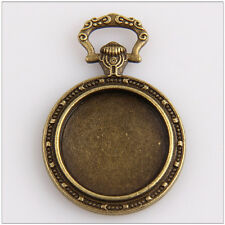 6 Photo Frame Cameo Setting Bronze Plated Pendants With Rabbit 39mm EIF0540