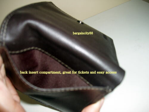 New MILLENI Mens Biflod Genuine Leather Wallet//Note ID Card Coin Pocket Holder